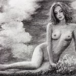 Beauty in the depth of thought - Nude Drawing