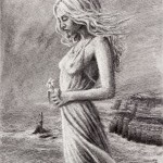 Caught by the Storm - Nude Drawing
