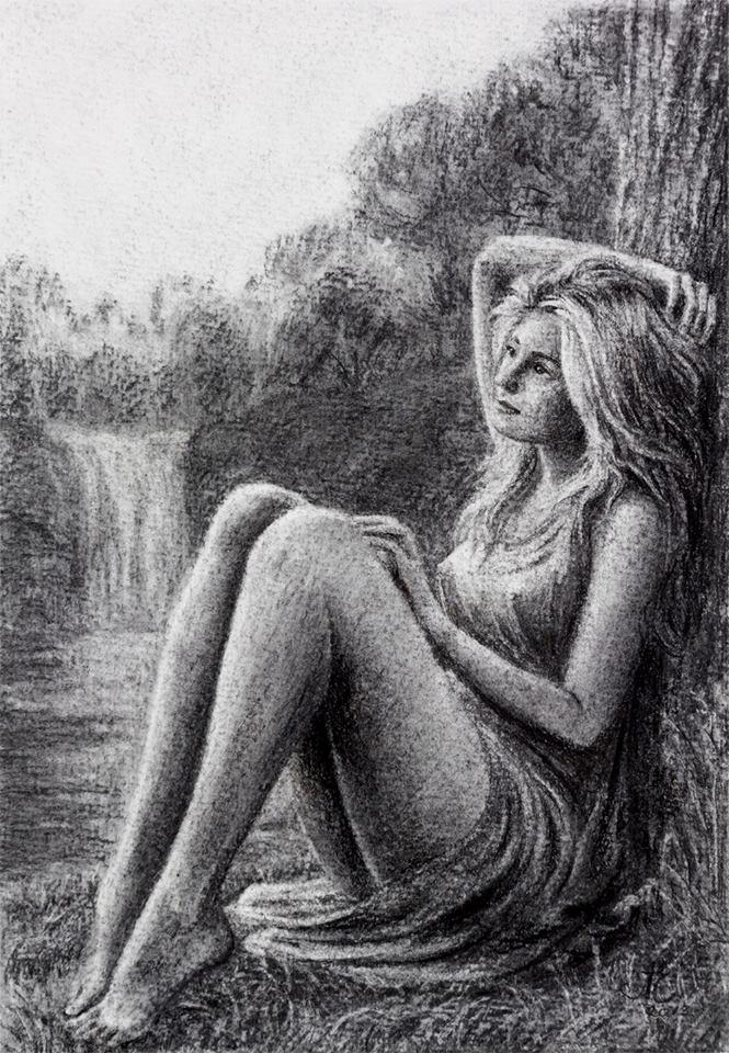 Enlightening loneliness - Nude Drawing