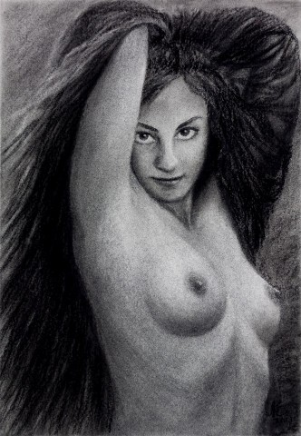 Persistent Enchantress - Nude Drawing
