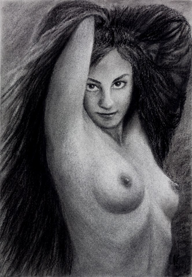 Persistent Enchantress - Nude Drawing