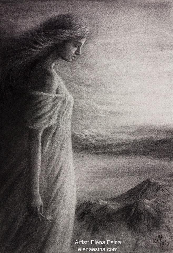 Shadow of Sorrow-charcoal drawing