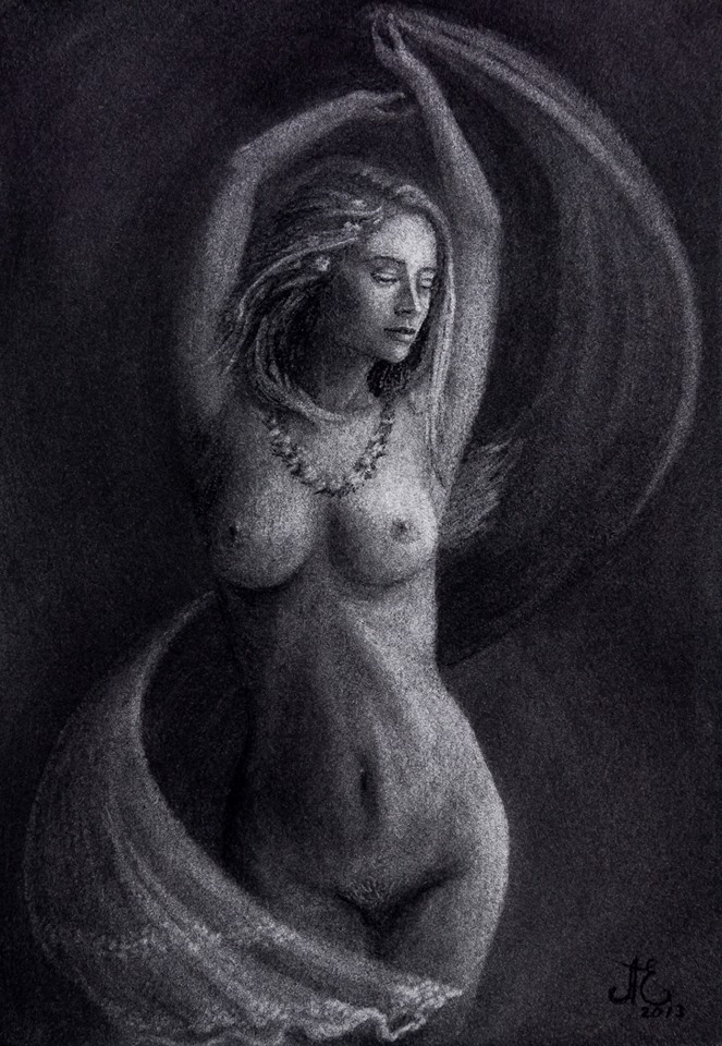 The Dance of Summer - Nude Drawing