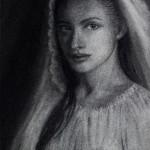 Secret Devotion. Charcoal Drawing. Artist Elena Esina