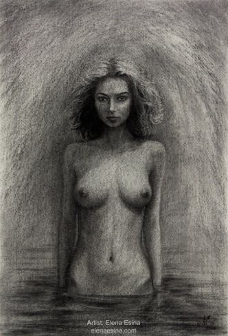 """""""From the Depth of Intention"""" Charcoal Drawing"""