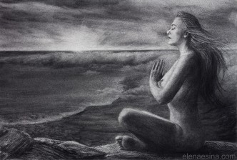 """Oneness"" Charcoal Drawing (2013)"