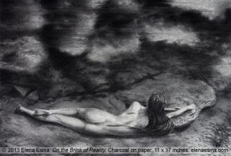Charcoal Drawing On the brink of reality
