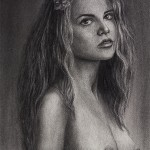 Charcoal Drawing. A Wandering Thought