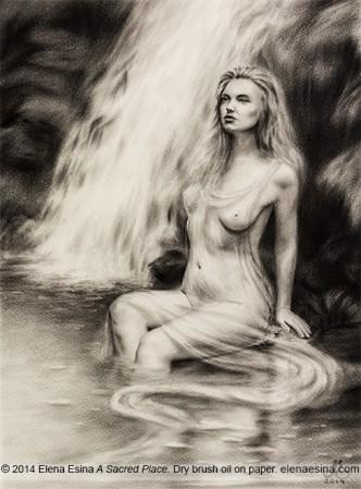 Dry Brush Oil Painting. Artist Elena Esina