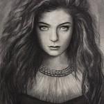 Lorde portrait Diamond in the flesh
