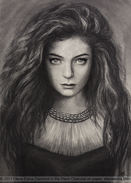 Lorde portrait Diamond in the flesh