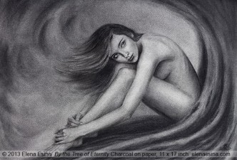 "Nude Drawing ""By the Tree of Eternity"""