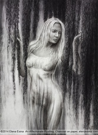 Nude Drawing. An Affectionate Rustling. Artist Elena Esina