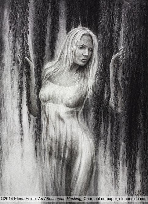 Nude Drawing. An Affectionate Rustling. Artist Elena Esina