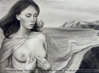"""The Bay of Longing"" Oil on Canvas. 41 x 30cm (2014) Artist: Elena Esina"