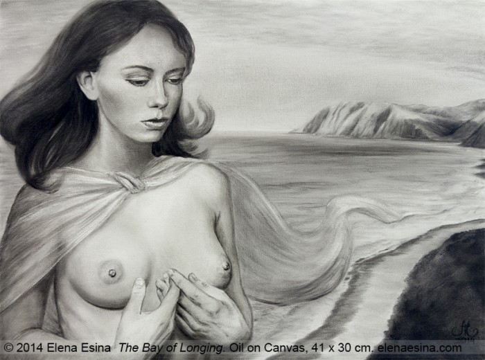 """The Bay of Longing"" Oil on Canvas. 41 x 30cm (2014) Artist: Elena Esina"
