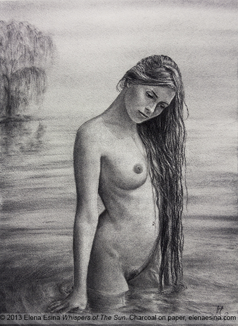 Whispers of the sun, Nude drawing
